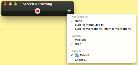 how to use quicktime player screen recording